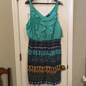 Colorful blues Summer Dress Size XXL